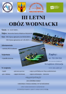 Zapisy na III Obóz Wodniacki w Rościminie