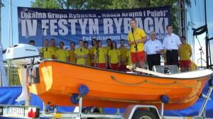 56 Przekazanie łodzi przez Rejonowe WOPR